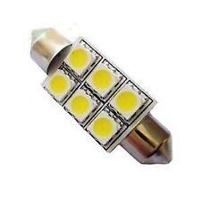 AMPOULE LED NAVETTE 36mm 6SMD 5050 C5W - FESTOON 36mm 6 LED Blanc Neutre