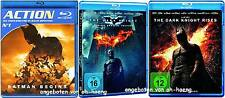 3 x BATMAN: BATMAN BEGINS / THE DARK KNIGHT / THE DARK KNIGHT RISES / 5 Blu Rays
