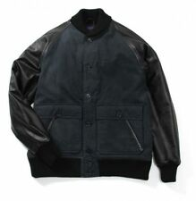 STUSSY DELUXE X MAIDEN NOIR Black Cotton/Nylon Leather Stadium Varsity Jacket S