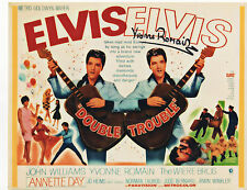ELVIS  PRESLEY  - DOUBLE TROUBLE signed 10x8 YVONNE ROMAIN as CLAIRE DUNHAM