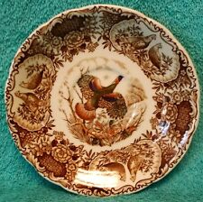 JOHNSON BROTHERS china WILD TURKEYS BROWN Saucer - 5-3/4""