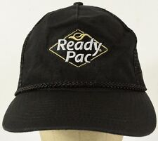 Ready Pac Embroidered Black Mesh Trucker Hat Cap with Snapback Strap Adjust
