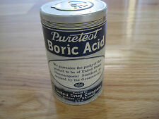 Tin Advertising Puretest Boric Acid 3.75 inches United Drug Co. Boston St. Louis
