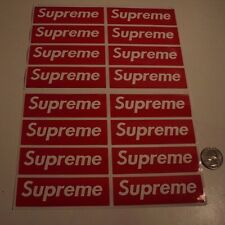 supreme box logo red sticker vinyl decal pack lot of 16 skateboard laptop car