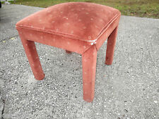 Square Upholstered Bench Stool Hollywood Regency Mid-century vanity Bed end