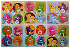 """80 Care Bears Mini Stickers, 1.2"""" Round Each, Party Favors"""