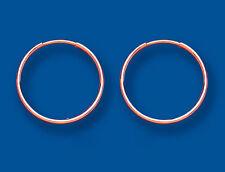 Oro Rosa 18mm Peso Medio Orecchini A Cerchio