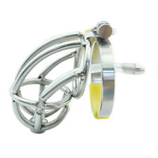Male Chastity Device Men Bird Lock Stainless Steel Belt Chrome Cock Cage S421