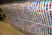 250  Autocollants sticker drapeau différents pays territoires version FR 2x3cm