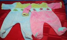 2 AMERICAN GIRL BITTY BABY BLOCK PRINT VELOUR SLEEPERS RETIRED Pleasant Co