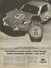 Publicité Advertising 1970  Montre TISSOT SIDERAL