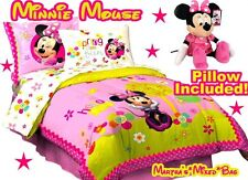 DiSNEY MINNIE MOUSE Girls PiNK Full/Double Size Licensed COMFORTER Bedding SET
