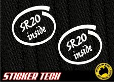 SR20 INSIDE STICKER DECAL TO SUIT NISSAN TURBO ENGINE SR20DET S13 S14 S15 SSS
