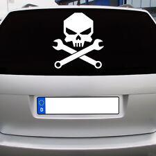 Mechanic Skull Werkstatt schrauber Heckscheiben Sticker Auto Aufkleber JDM 30cm