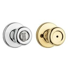 Kwikset Tylo Polished Brass/Polished Chrome Bed/Bath Knob 258309 Door Locks NEW