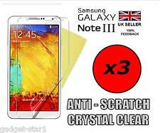 3x HQ CLEAR SCREEN PROTECTOR COVER GUARD FILM FOR SAMSUNG GALAXY NOTE 3 N9000