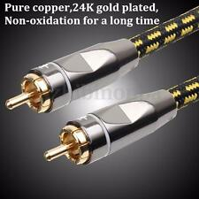 HiFi Stereo Audio Interconnects RCA 50cm Audio Cables For Conference DJ HOT