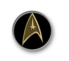 "STAR TREK LOGO / 1"" / 25mm pin button / badge / Next Generation / DS9 / Trekkie"