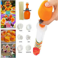 Convenient 6 Shape Cake Fruit Maker Kitchen Tool Pop Chef Food Decorator Cutter