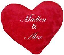 RIESEN Herzkissen für Paare mit Namen bestickt Valentinstag Hochzeit Geschenk