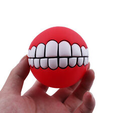 New Pet Dog Ball Teeth Silicon Toy Chew Squeaker Squeaky Sound Dogs Play Toys