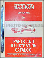 1992 Oldsmobile Toronado and Trofeo Parts Book Illustrated Catalog Original OEM