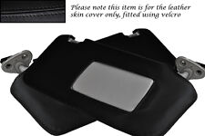 BLACK STITCHING FITS SUBARU LEGACY 2003-2009 2X SUN VISORS LEATHER COVERS ONLY