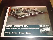 1968 Mercury NM Condition Brochure Cougar / Cyclone / Montego  Car - Vehicle