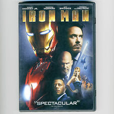 Iron Man 2008 PG-13 hero movie DVD Robert Downey Jr., J Bridges, Gwyneth Paltrow