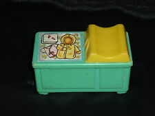 Fisher Price Little People Vintage Blue Baby Nursery Changing Table