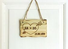 Driftwood Style Personalised Valentine's Gift 5th Wedding Anniversary Love Sign