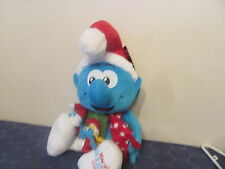 "Smurfs 2010 Macy's Christmas/Holiday 21"" Plush NEW with Tag & Finger Puppets"