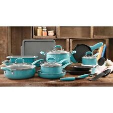 Pioneer Woman Vintage Speckle Turquoise 20 PC Cookware Combo Set All You Need