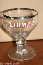ANCIEN VERRE A BIERE EMAILLE / CHIMAY / CALICE / décor bar collection emaillé