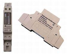 Wechselstromzähler Stromzähler Wattmeter 6+1 Digit für Hutschine 230V 30A Strom