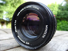 MINOLTA MD 50MM F1.4 ROKKOR FAST PRIME  MD LENS  sony canon m4/3 nikon