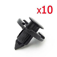 10pc Car Plastic Rivet Weather Strip Fastener Mud Flaps Bumper Fender Push Clip