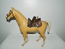 Marx Johnny West Palomino Thunderbolt Horse Figurine & Tack Accessories