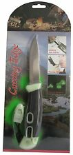 Survival Knife With Fire Starter Whistle Glow in Dark 3 3/4 Inch Fixed Blade