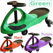 Kids Children Ride On Toys Swing Twist Car Red/Purple/Green