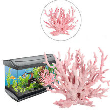 Beautiful Plastic Light Pink Coral Fish Tank Aquarium Plant Ornament Decoration