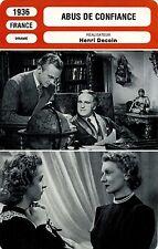 Movie Card. Fiche Cinéma. Abus de confiance (France) Henri Decoin 1936