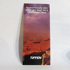 Used Tiffen Neutral Density (ND) and Color Grad ND. 6 Guide Brochure O40707
