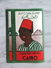 CARLTON HOTEL, CAIRO...ORIGINAL LUGGAGE LABEL