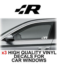3 x VOLKSWAGEN R LINE VW Logo Window Sticker Decal Graphics
