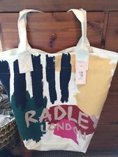 Radley London Very Large Canvas Shopper Bag  Brush Stroke