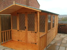 8 x 12 Summer House / Shed Combination             Fully T & G Claddings