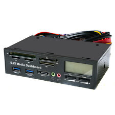 "5.25"" All In One Media Dashboard Front Panel PC USB3.0/2.0 Multi Card Reader CGY"