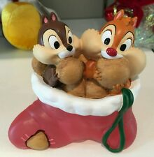 JDS Japan Disney Store Christmas 2015 Chip Dale Stocking LED Lamp Figuries