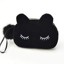 Women Cosmetic Pouch Bags Makeup Organizer Bag Lovely Cat Bag Christmas Present